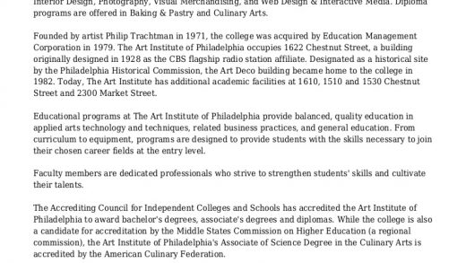 College & University :: The Art Institute of Philadelphia and Philly …
