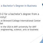 2plus2 American bachelors degree in Business