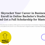Enroll in Online Bachelor's in Business and get a full scholarship for the  Master's