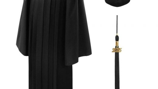 Deluxe Fluted Fabric Masters Cap & Gown & Tassel Package Shops Uniforms,  Work & Safety environews.tv