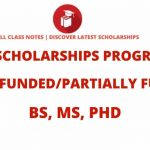 List of Scholarship Programs 2021 For Bachelors, Masters and PhD