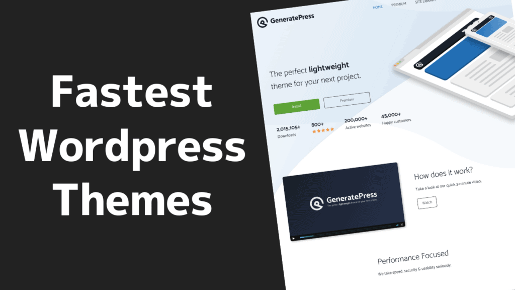 The FASTEST Wordpress Themes In 2021 (FREE & Paid) ⚡