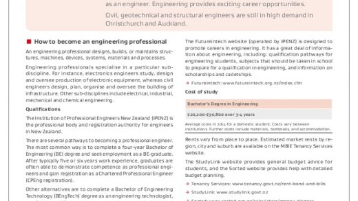 HOW TO BECOME AN ENGINEERING PROFESSIONAL IN NEW ZEALAND