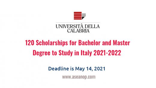120 Scholarships for Bachelor and Master Degree to Study in Italy 2021-2022  - ASEAN Scholarships