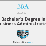 What is the abbreviation for Bachelor's Degree in Business Administration?
