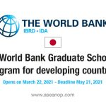 Opening Soon: Joint Japan/World Bank Graduate Scholarships for developing  countries 2021-2022 - ASEAN Scholarships