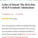 Speech Language Pathology Letter Of Intent Examples | 20 Guides & Examples!