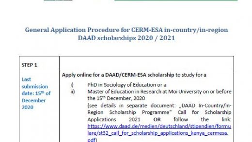 CERM-ESA | East and South African-German Centre of Excellence for  Educational Research Methodologies and Management