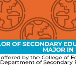 Bachelor of Secondary Education, major in English -