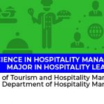 Bachelor of Science in Hospitality Management, major in Hospitality  Leadership -