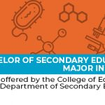 Bachelor of Secondary Education, major in Science -