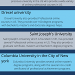 What universities offer professional online courses in US?