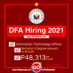DFA Hiring 2021: Must be a Bachelor's Degree holder   Philippine Go
