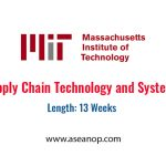 MIT - Supply Chain Technology and Systems - ASEAN Scholarships