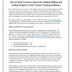 All You Need to Know About the Medical Billing and Coding Program in …