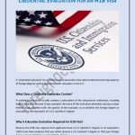 Credential evaluation for an H1B Visa