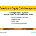 Essentials of Supply Chain Management, 4th Edition Lecture and Study …
