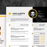 Free Format cv Creative Design with Cover Letter for Job Resume Template