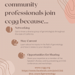 CALIFORNIA COUNCIL ON GERONTOLOGY & GERIATRICS – Education, Advocacy, and  Workforce Development: Supporting California's Diverse Aging Population