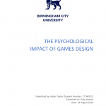 PDF) THE PSYCHOLOGICAL IMPACT OF GAMES DESIGN