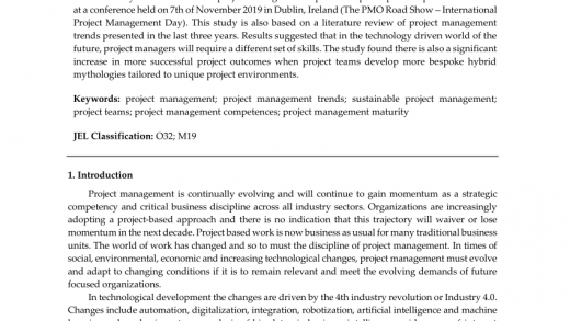 PDF) Project Management Trends and New Challenges 2020+