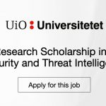 International PhD Scholarship in Cyber Security and Threat Intelligence,  Norway - ASEAN Scholarships