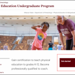 Redesigned kinesiology website: A fresh look for active programs - Web  Strategy and Development Blog - Missouri State University