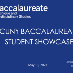 CUNY BA – CUNY Baccalaureate for Unique and Interdisciplinary Studies