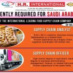 URGENTLY REQUIRED FOR ARABIA ONE OF THE INTERNATIONAL LEADING FOOD SUPPLY  CHAIN COMPANY — Jobs in Saudi Arabia