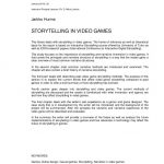 STORYTELLING IN VIDEO GAME – Creating a narrative for management game…